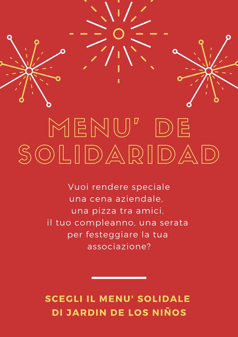 menù de solidaridad - jardin de los ninos